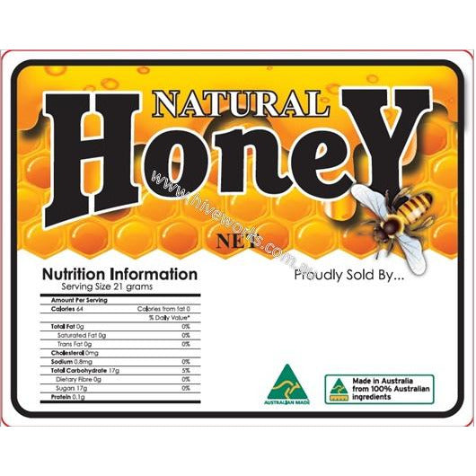 Roll of 500 Honey Labels