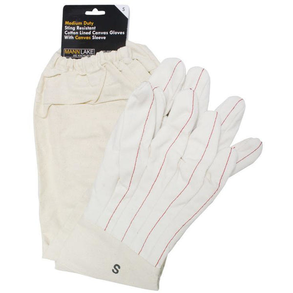 Cotton Lined Canvas Gloves
