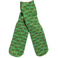 Green Bee Socks - Adult Crew