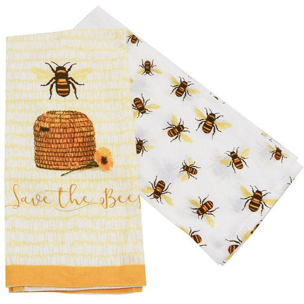 Save the Bees Tea Towel - Set of 2