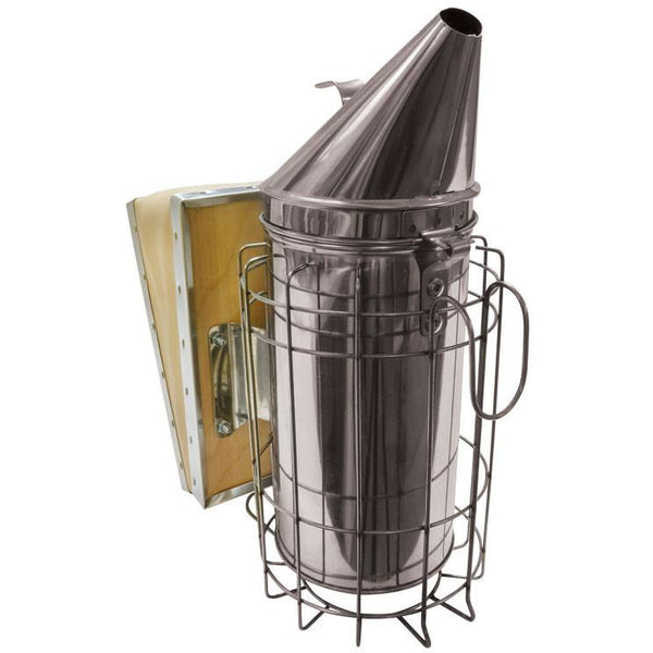 Mann Lake Stainless Steel Smoker with Guard (10 x 17cm)