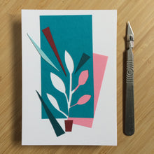 Load image into Gallery viewer, Abstract Greeting Cards made from Offcuts and Found Papers
