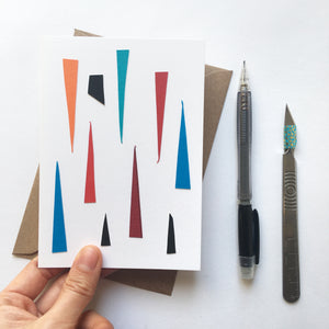 Abstract Greeting Cards made from Offcuts and Found Papers - Collection A