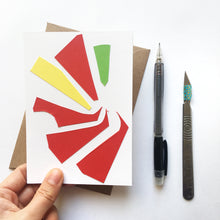 Load image into Gallery viewer, Abstract Greeting Cards made from Offcuts and Found Papers - Collection B