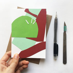 Abstract Greeting Cards made from Offcuts and Found Papers - Collection B