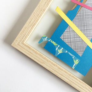 Abstract Artwork made from Scrap and Found Papers - Floating Frame Collection