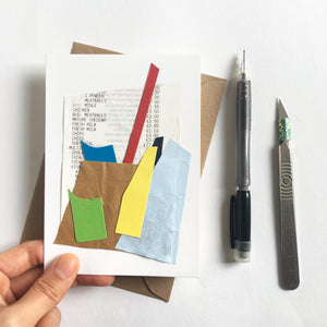 Abstract Greeting Cards made from Offcuts and Found Papers - Collection C