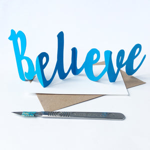 Believe Concertina Greeting Card