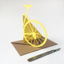 Load image into Gallery viewer, Handcut Back of Bike Papercut Card