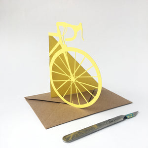 Handcut Front of Bike Card