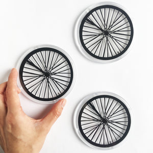 Papercut Bike Wheel Coaster
