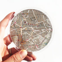 Load image into Gallery viewer, Ordnance Survey Map Coaster with the main roads cut out - London areas