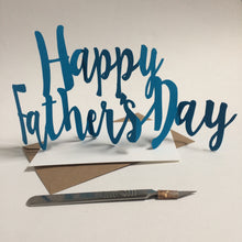 Load image into Gallery viewer, Handcut Concertina Father's Day Card