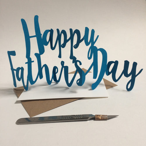 Handcut Concertina Father's Day Card
