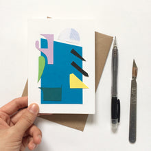 Load image into Gallery viewer, Abstract Greeting Cards made from Offcuts and Found Papers - Collection A