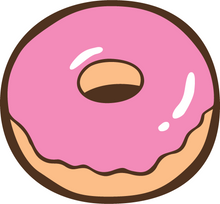 Load image into Gallery viewer, Plain donut with pink icing