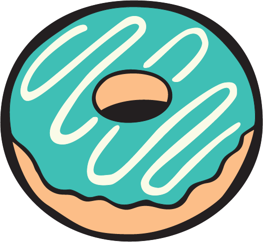 Extra Large Doughnut full colour decal sticker