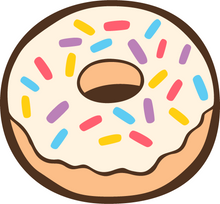 Load image into Gallery viewer, Plain donut with white icing and multi-coloured sprinkles