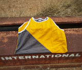 Yellow & Smoke Grey Shearing Singlet - Just Shear