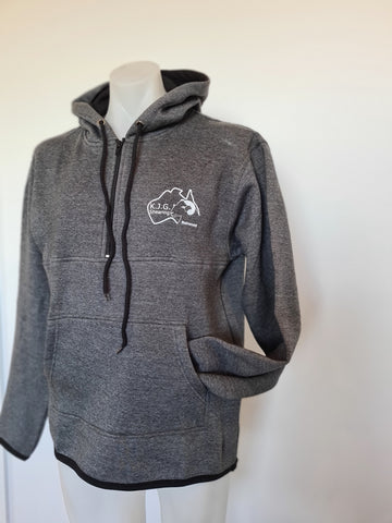 Grey Shearing Hoody with half zip front