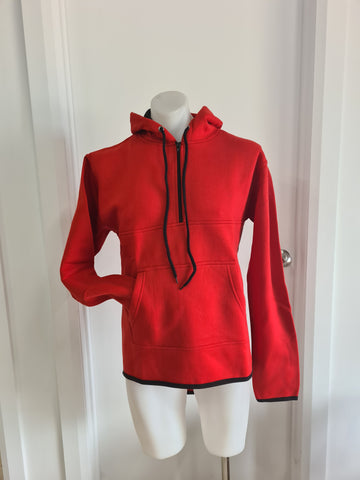 Red Half Zip Hoody