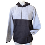 Grey & Black Shearing Hoody with half zip front