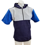 Royal Blue, Navy & Light Grey Short Sleeve Hoody