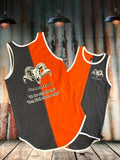 Orange Grey Vertical Shearing Singlet - Just Shear