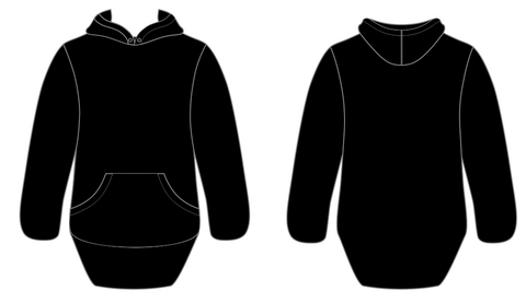 Black No Zip With Cuffs Shearing Hoody