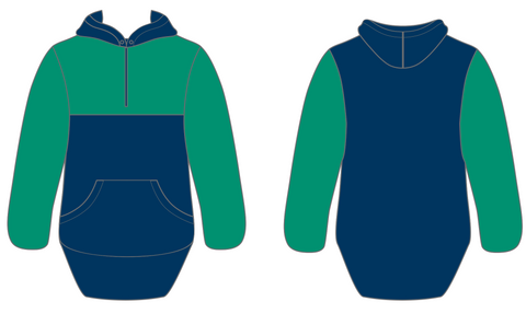 Dark Green & Navy Hoody