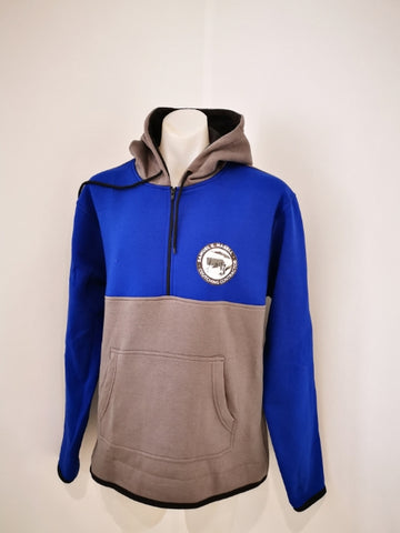 Royal Blue & Smoke Grey Hoody - Just Shear