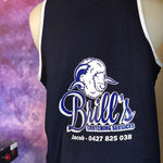 Navy Blue Shearing Singlet - Just Shear