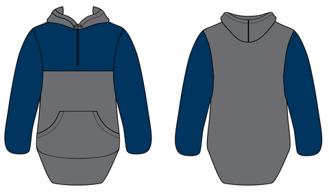 Navy & Charcoal Grey Hoody