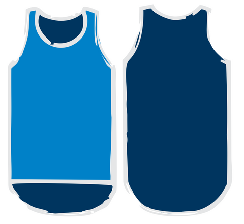 Navy & Royal Blue Shearing Singlet