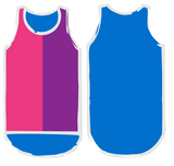 NEW Pink. Purple & Blue Shearing Singlet - Just Shear