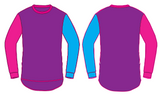 Purple with Pink & Blue Long Sleeve Tee