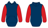 Red & Navy No Zip Shearing Hoody