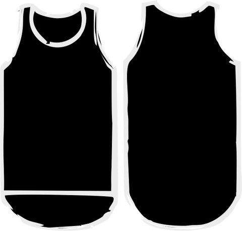 Black Shearing Singlet - Just Shear