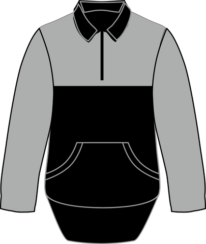 Black Grey Collared Shearing Jumper - Just Shear