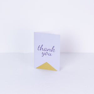 Inspirationery - Purple Thank You Greeting Card