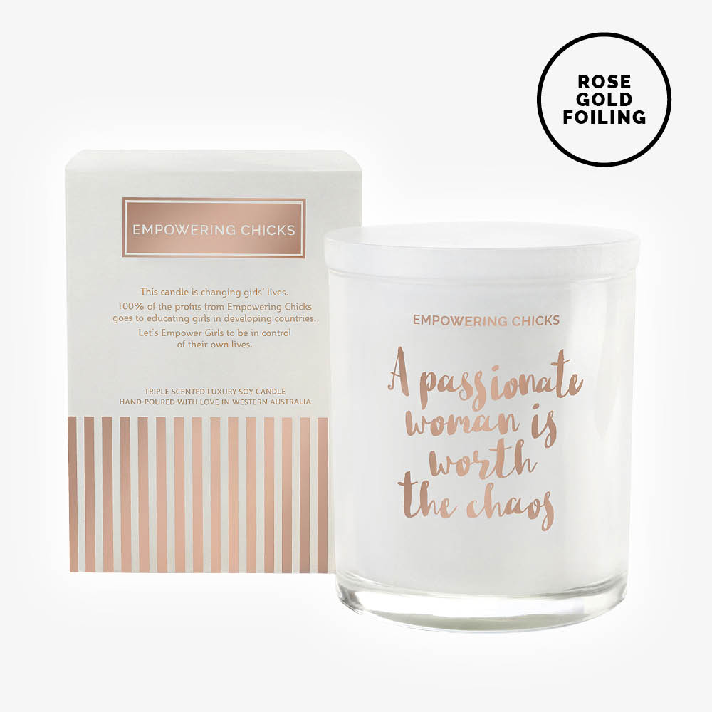 Empowering Chicks - A Passionate Woman Is Worth The Chaos Candle