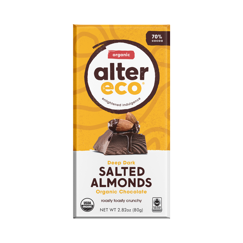 Alter Eco - Salted Almond Dark Chocolate