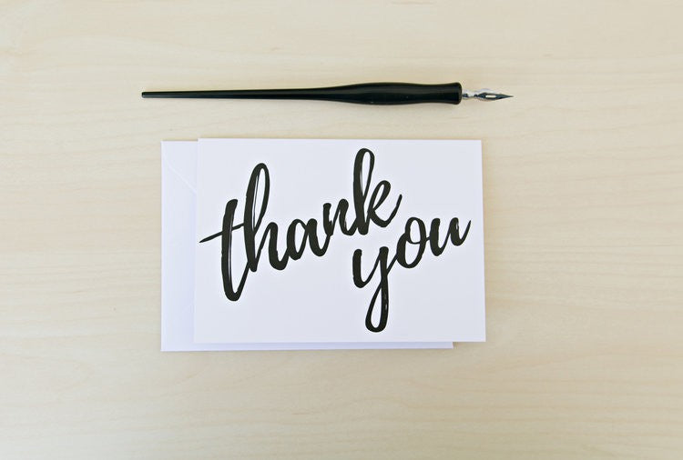 Inspirationery - Thank you Greeting Card