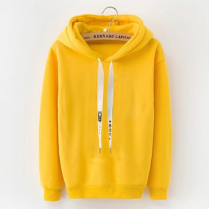Latest Brand Female Long Sleeve Solid Color Hooded