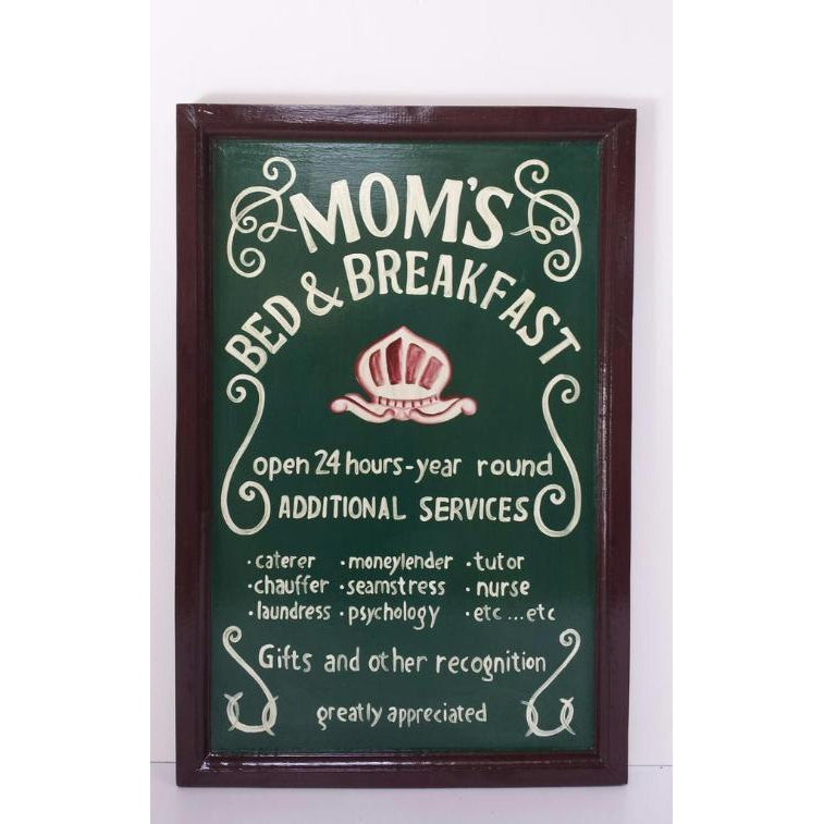 MUMS BED & BREAKFAST PLAQUE - WORLD OF DECOR