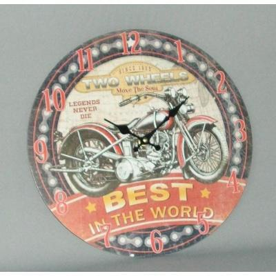 HARLEY DAVIDSON WALL CLOCK - WORLD OF DECOR