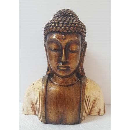 1/2 A POLY RESIN BUDDHA SCULPTURE - WORLD OF DECOR