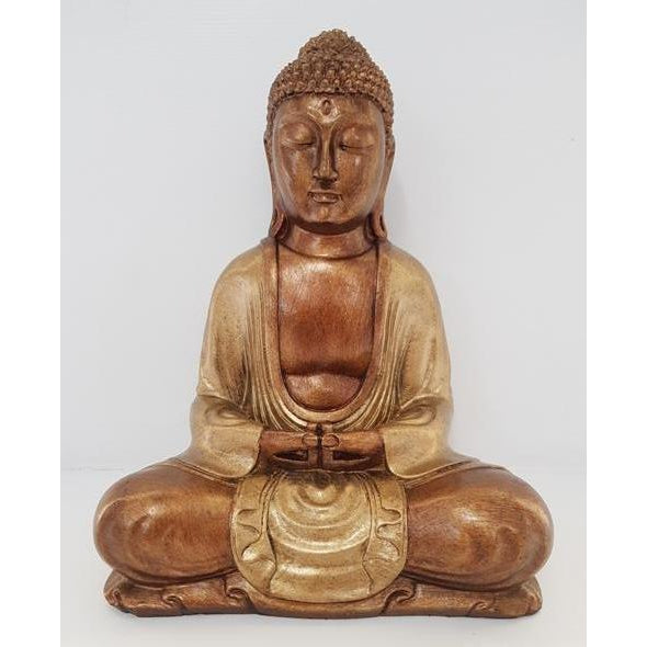 POLY RESIN MEDITATION BUDDHA STATUE-3 COLOUR - WORLD OF DECOR