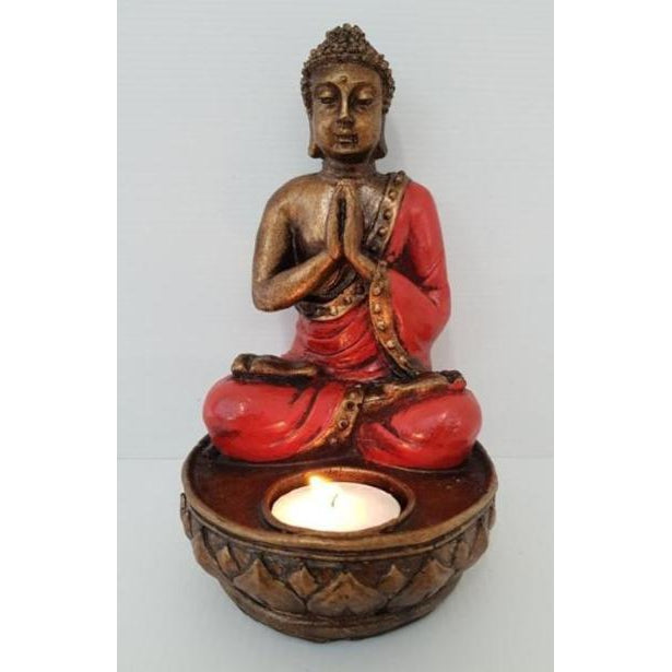 BUDDHA TEALITE HOLDER-4 COLOUR - WORLD OF DECOR
