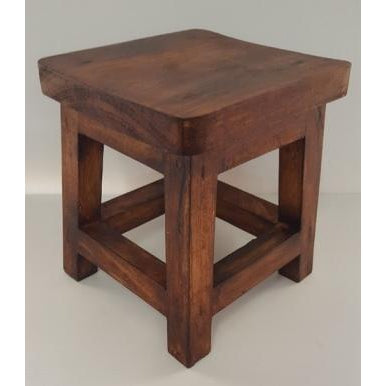 Wooden stool - WORLD OF DECOR